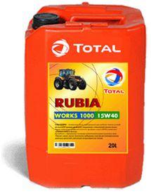 Total RUBIA WORKS 1000 15W40 (20л)